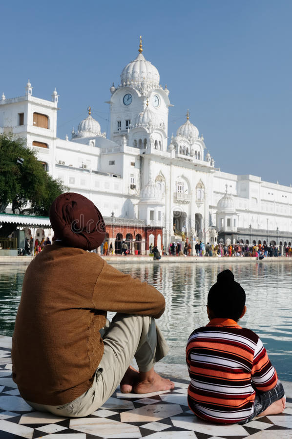 India. Golden temple (Sri Harimandir Sahib) in Amritsar. It is a central religions place of the Sikhs, India stock images