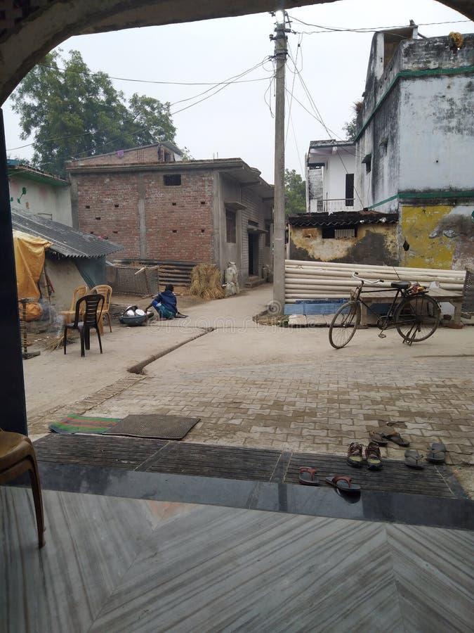 India: Aldea India no ciudad fotografía de archivo libre de regalías