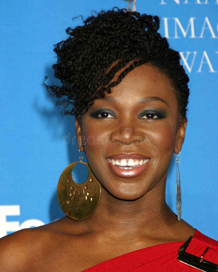 India Arie. India.Arie 37th NAACP Image Awards Shrine Auditorium Los Angeles, CA February 25, 2006 royalty free stock photography