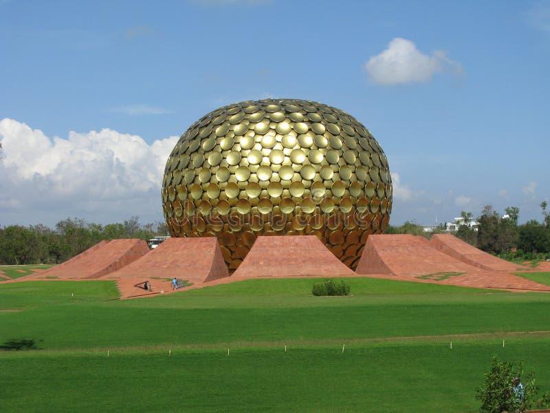 India. Ashram Sri Aurobindo in Auroville. Pondicherry. royalty free stock photo