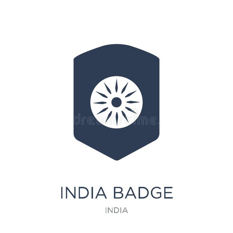 india Badge icon. Trendy flat vector india Badge icon on white b royalty free illustration