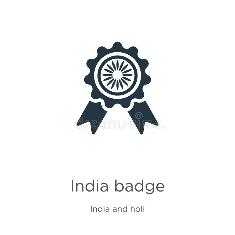 India badge icon vector. Trendy flat india badge icon from india collection isolated on white background. Vector illustration can royalty free illustration