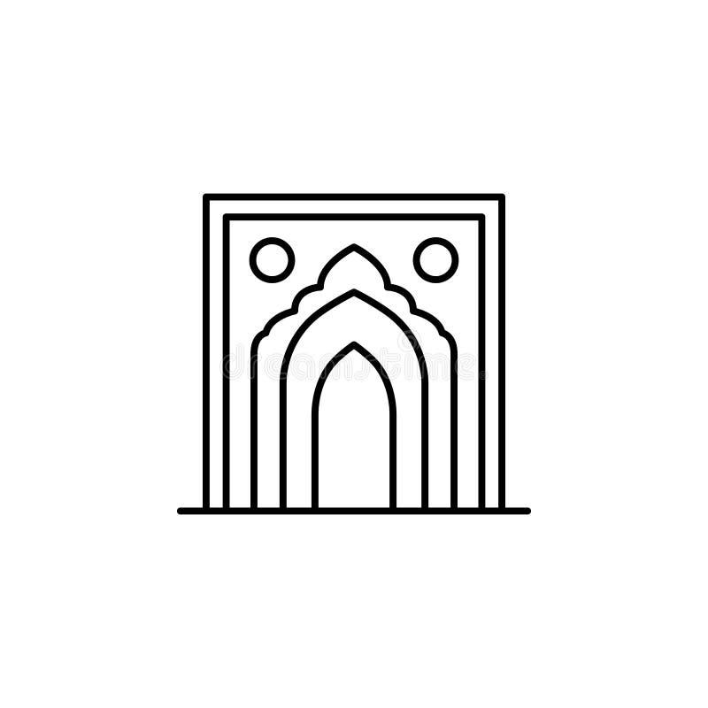 India, boogpictogram Element van de cultuurpictogram van India Dun lijnpictogram voor websiteontwerp en ontwikkeling, app ontwikk vector illustratie