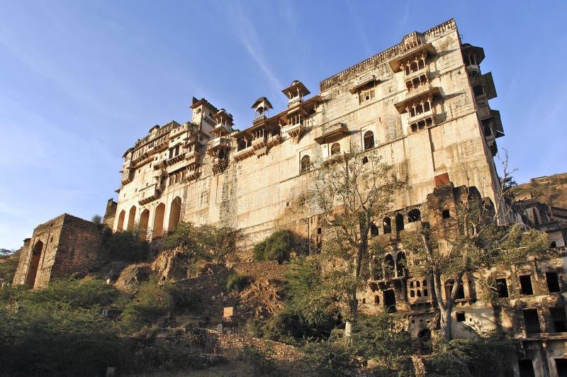 India, Bundi: fort and palace royalty free stock photos