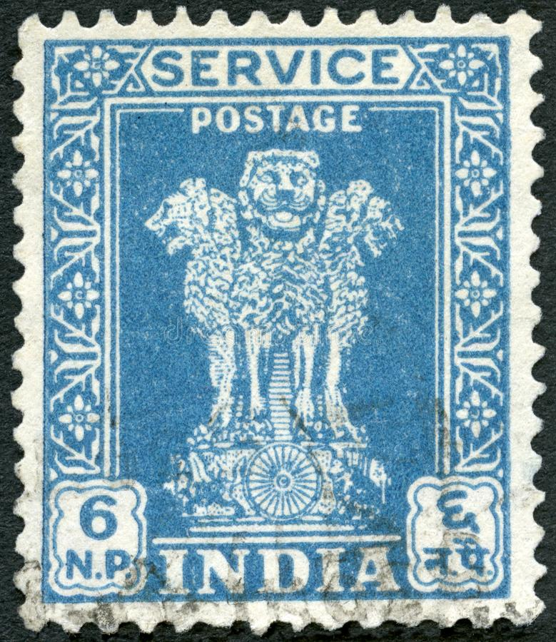 INDIA - 1948: shows The Lion Capital of Ashoka stock images