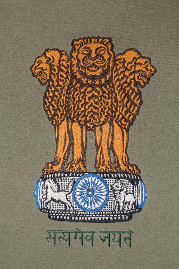 India coat of arms royalty free stock photo