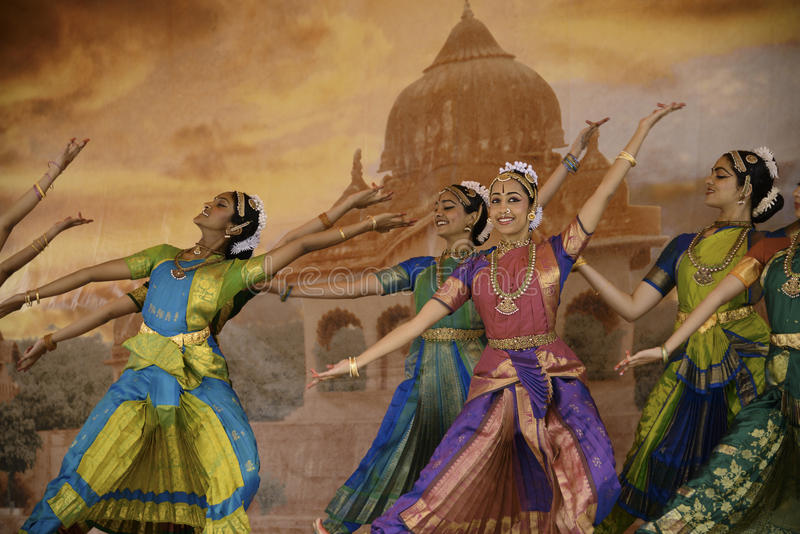 India dancers royalty free stock photo