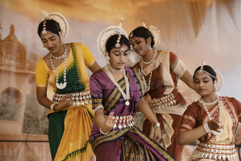 India dancers royalty free stock photography