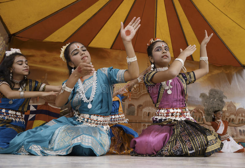 India dancers stock photography