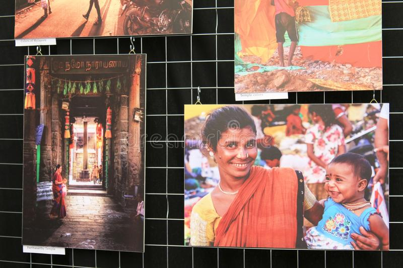 India Day in Luxembourg city - Photo exhibition stock image