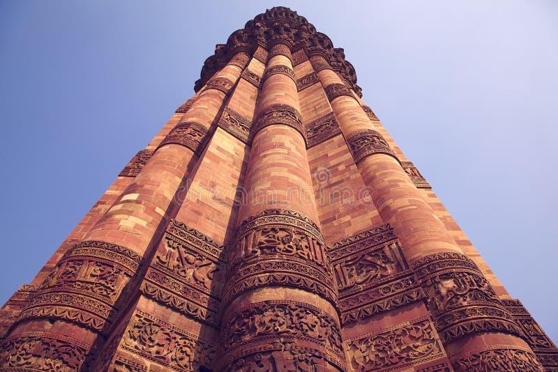 India, Deli, Kutub Minar Tower foto de archivo
