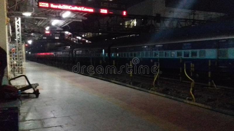 India dhanbad raiway station. India dhanbad jharkand railway station royalty free stock photo