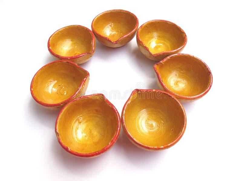 India-Diwali lamps royalty free stock photography