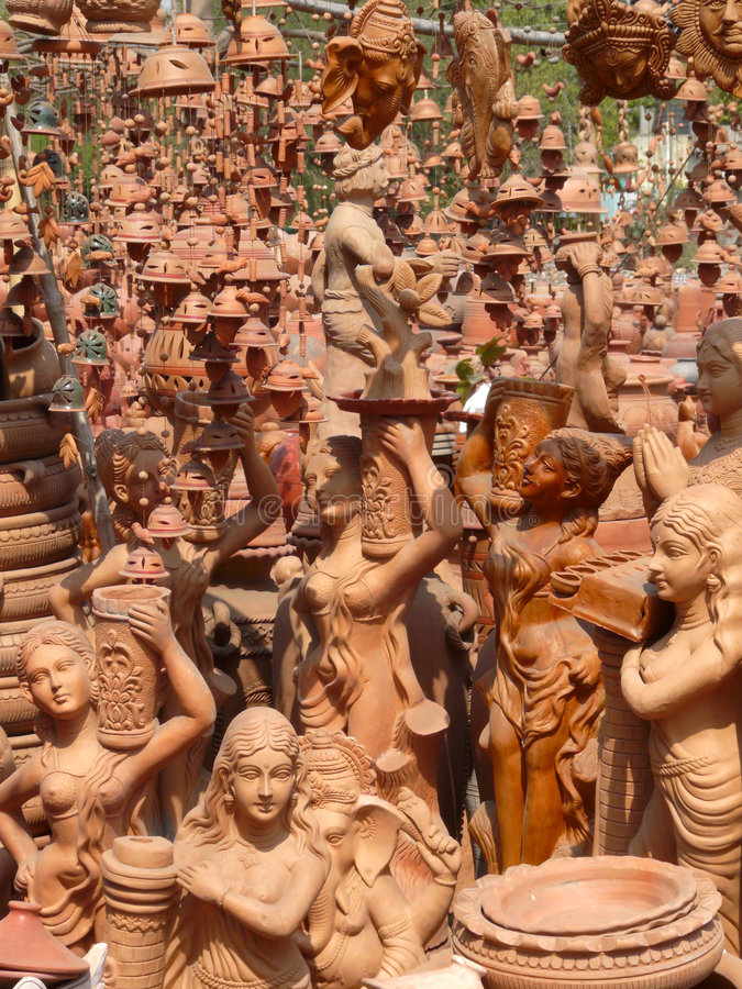 Download India: Figurines / Ornaments Stock Image - Image: 7104875