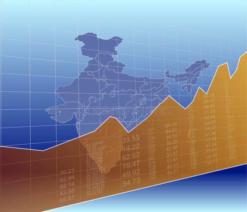 India Finance and Market, ascending, success.  vector illustration