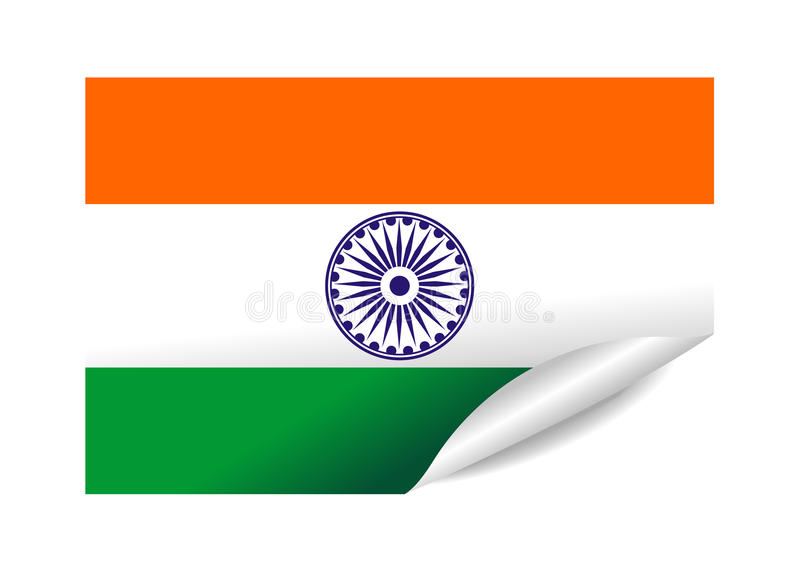 Download India flag stock vector. Illustration of beautiful, pennant - 12372771