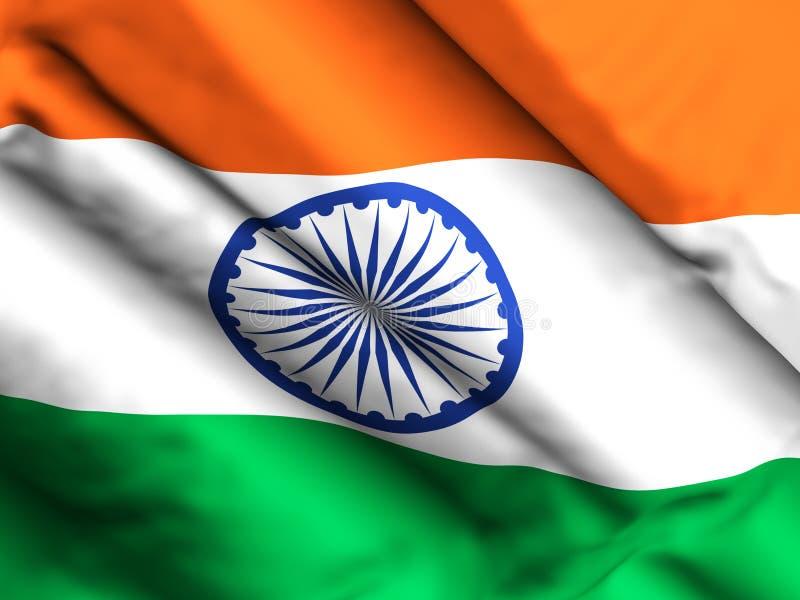India flag background 3d illustration royalty free illustration