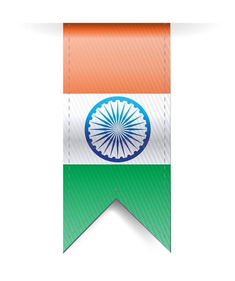 India flag banner illustration design royalty free illustration