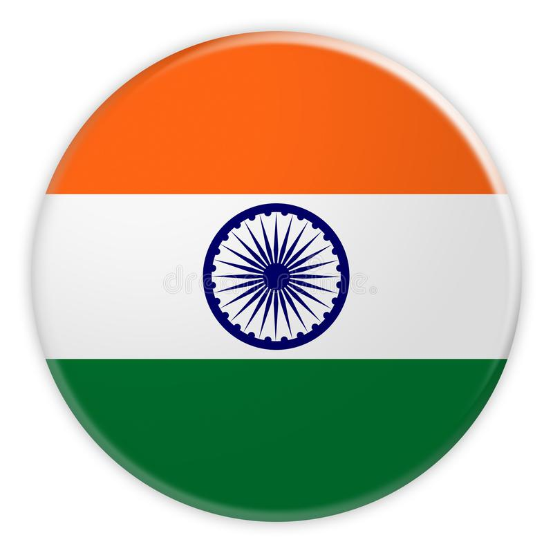 India Flag Button, News Concept Badge royalty free illustration