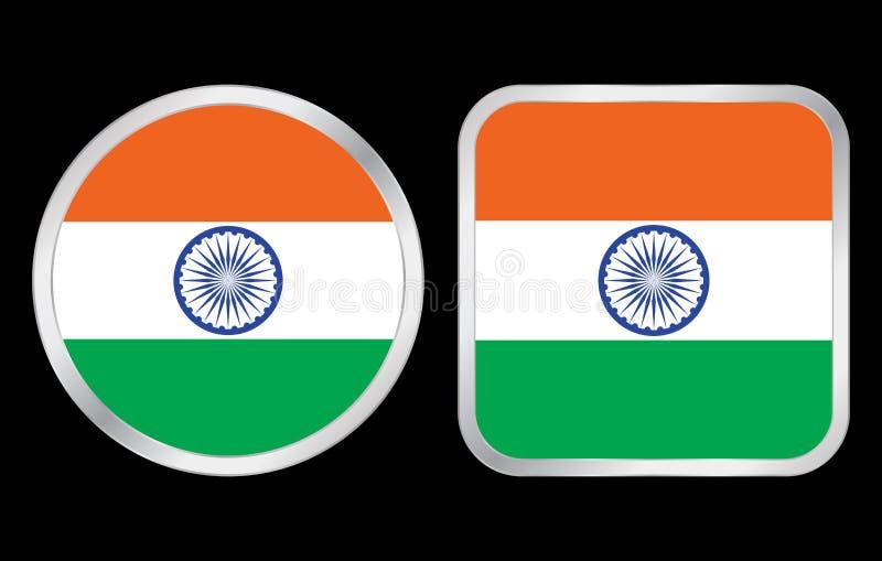 India Flag Icon Royalty Free Stock Photos
