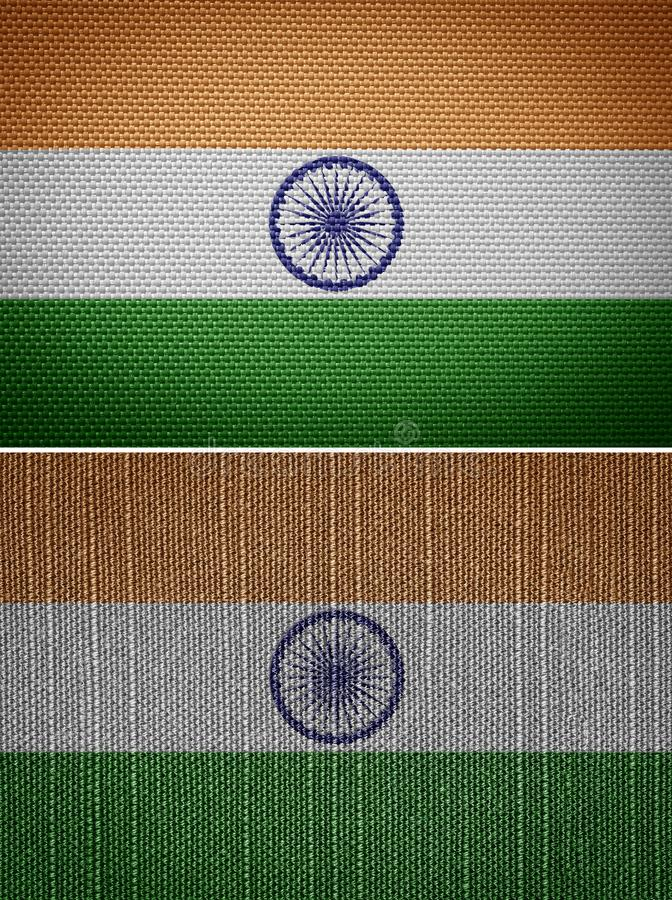 India Flag. Indian textile flags. India Flag stock photography