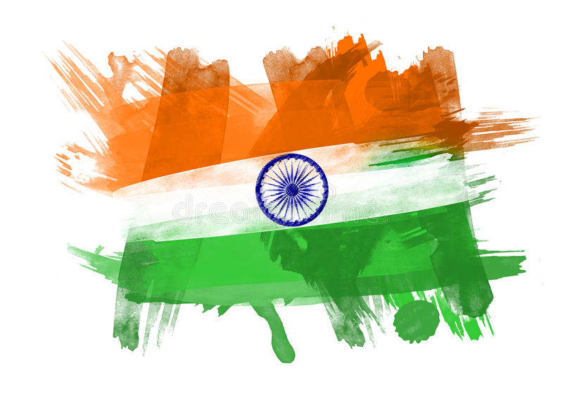Download India Flag In White Background Stock Illustration - Image: 26431550