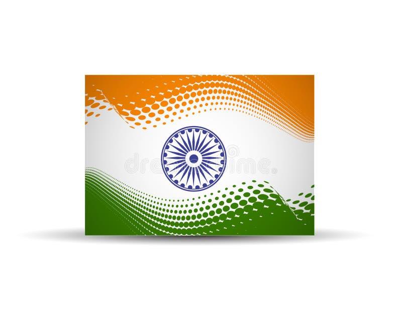 India flaga ilustracja wektor