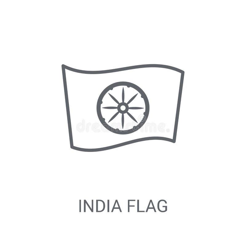 India flaga ikona Modny India flagi logo pojęcie na białym backgro ilustracji