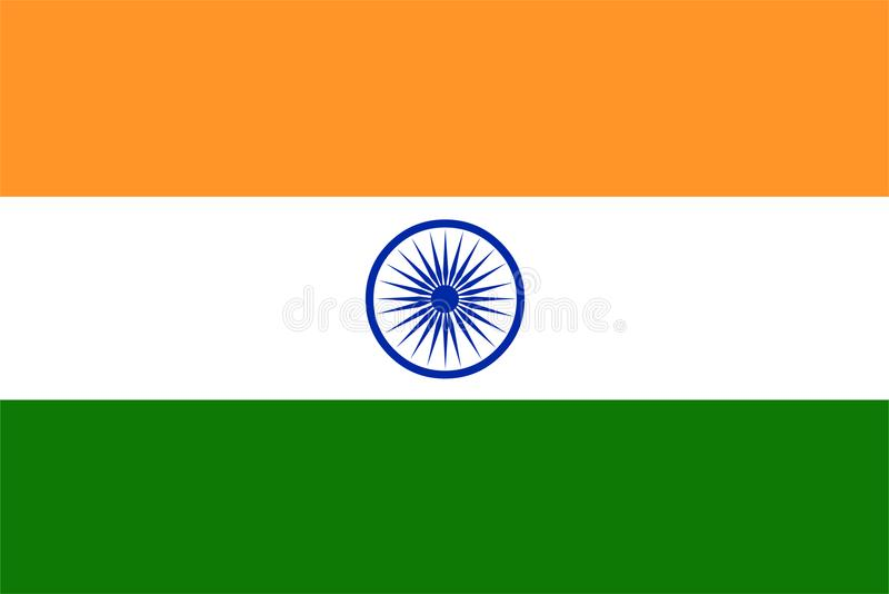 India flaga wektor Ilustracja India flaga zdjęcia royalty free