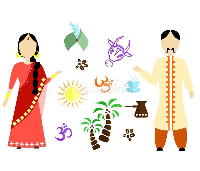Download India flat design stock vector. Image of symbol, girl - 83708691