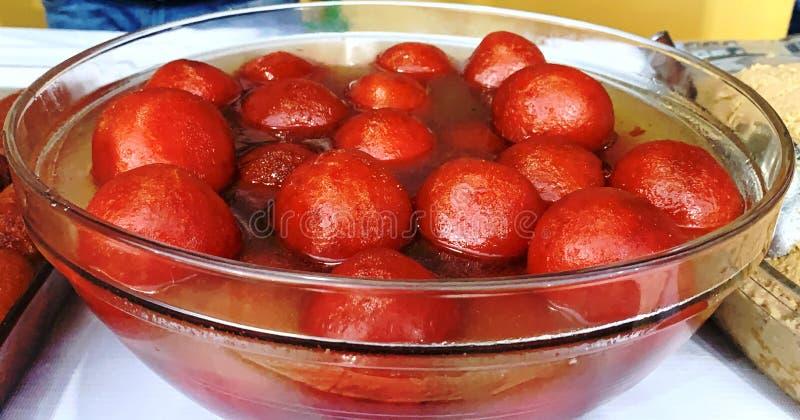 India Food Festival Gulab Jamun Stock Foto lizenzfreies stockbild