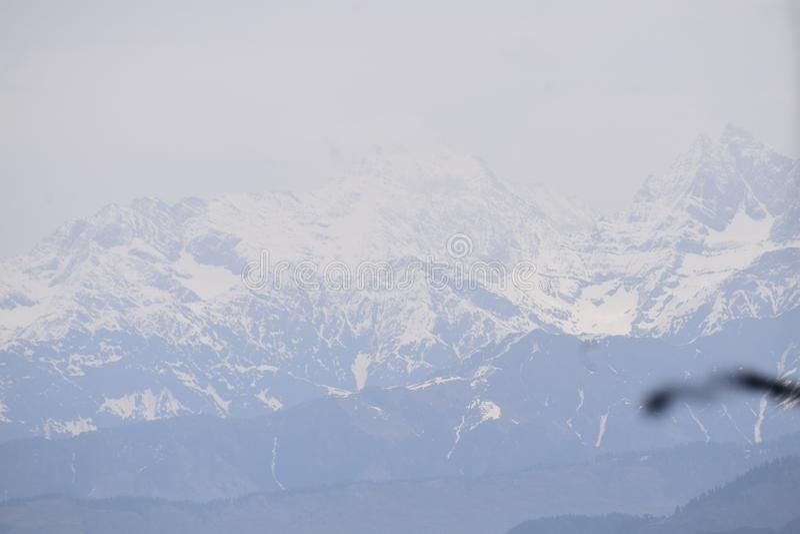 INDIA gór HILLSTATION śniegu HIMACHAL wycieczki TREKKING pokój fotografia stock