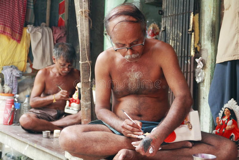 India garncarstwa artysta obraz stock