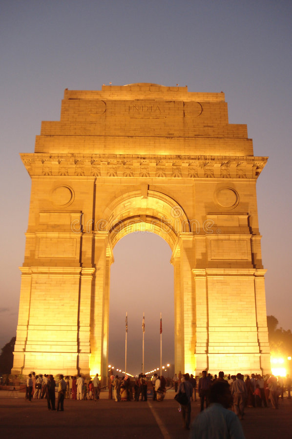 Download India Gate stock photo. Image of gate, picture, night - 3796532