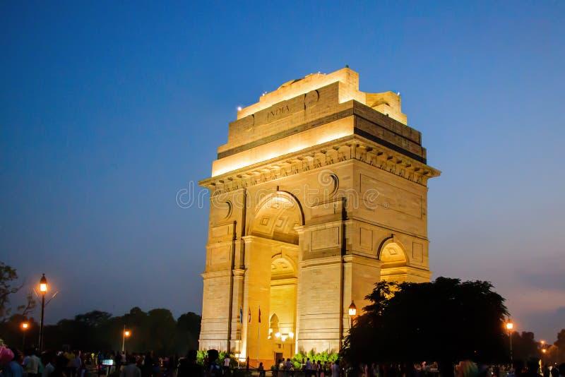 The India Gate Delhi, India. Different View Grate India Gate in Delhi India its night view royalty free stock photo