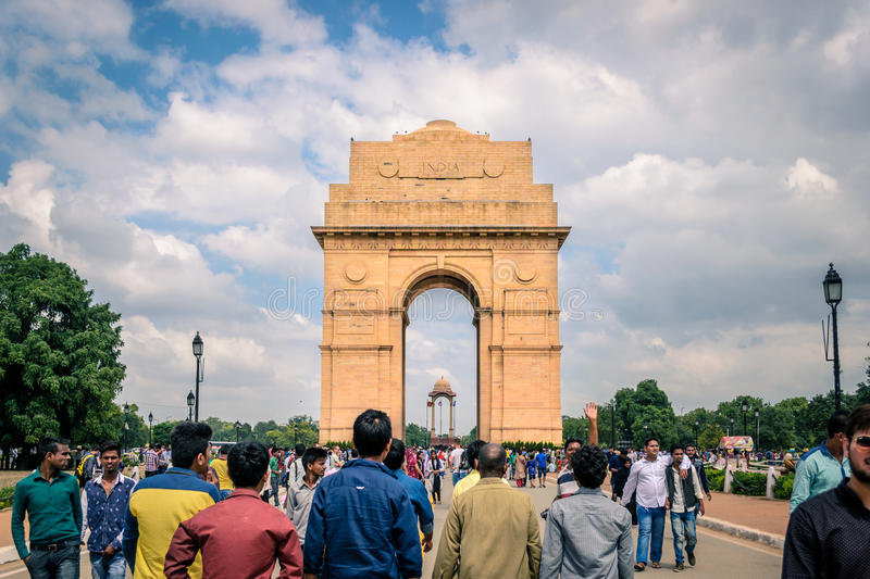India Gate in Delhi. Near India gate in New Delhi royalty free stock photography