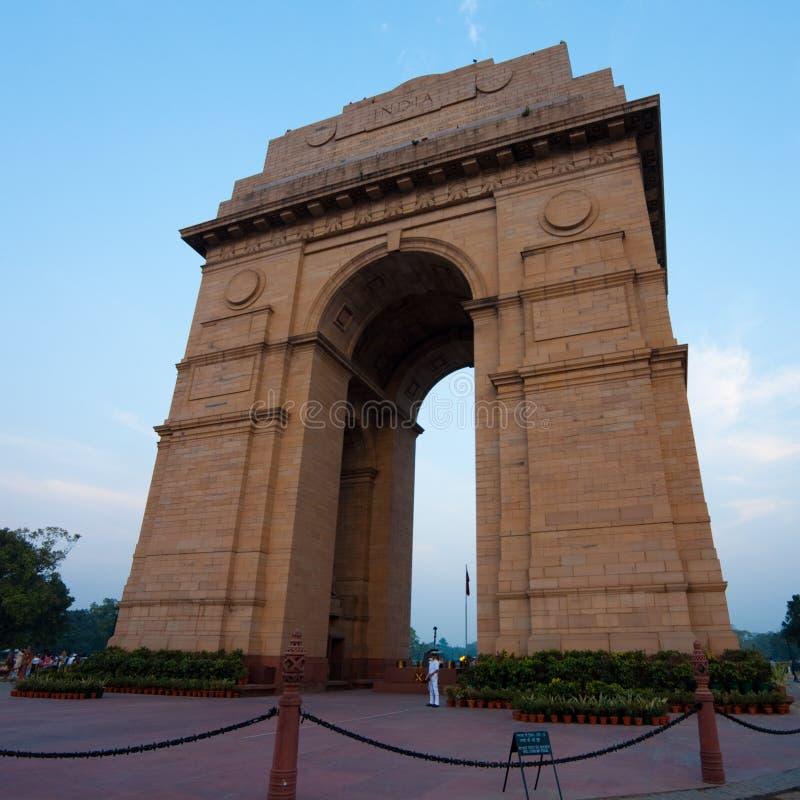 India Gate Evening Blue Sky Horizontal