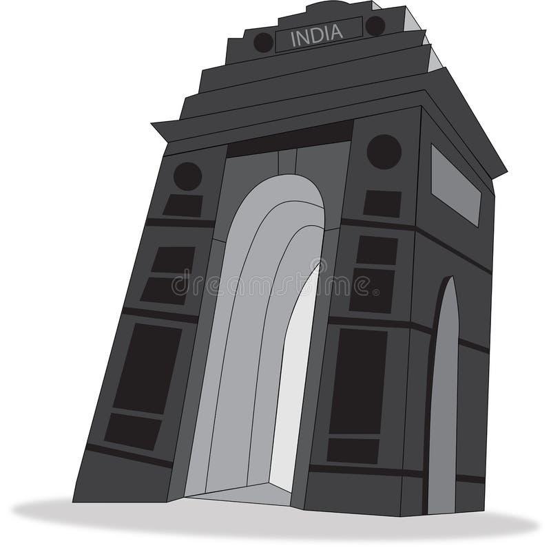 India Gate vector illustration
