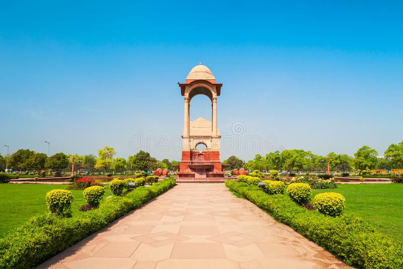 India Gate-Kriegsdenkmal, Delhi stockfotografie
