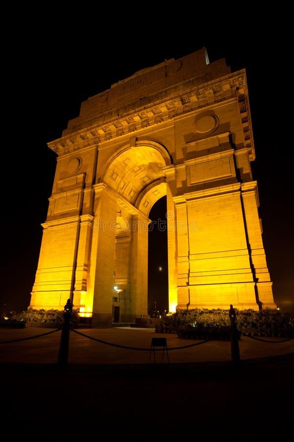 Download India Gate Moon Memorial Night Vertical Royalty Free Stock Photos - Image: 17383598