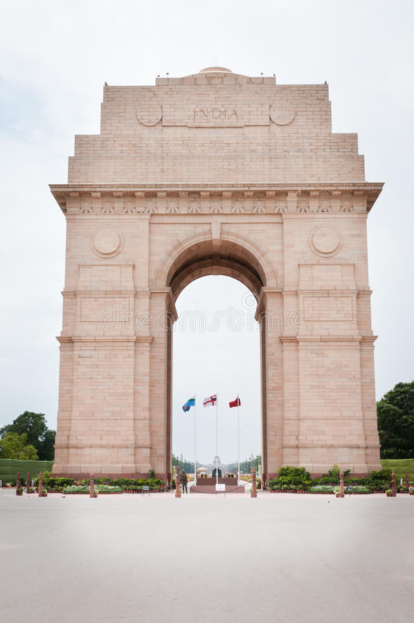 India Gate In New Dalhi Royalty Free Stock Photos