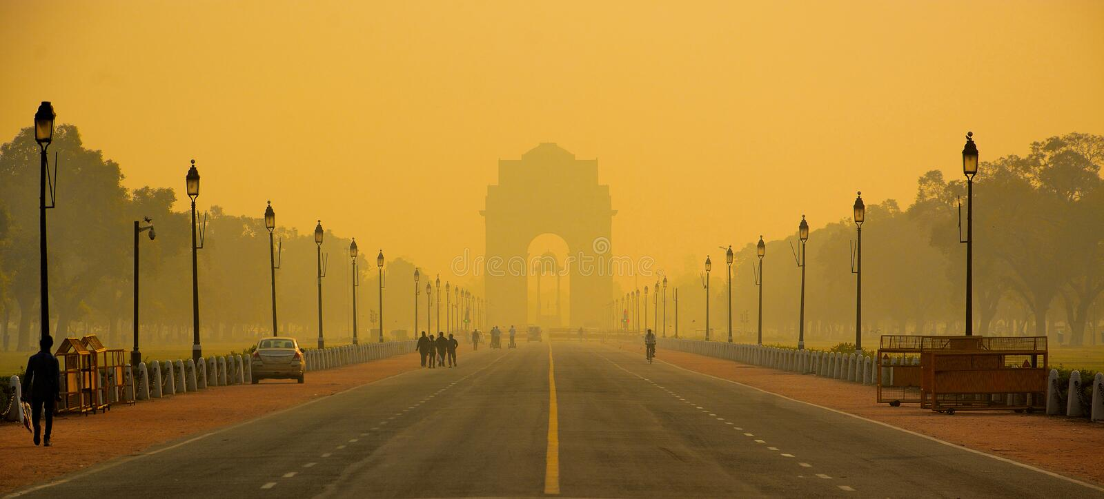 India Gate, New Delhi,INDIA stock image
