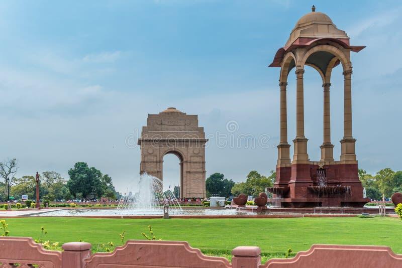 India Gate at New Delhi. View of India Gate, New Delhi, India, a war memorital archictura stock image