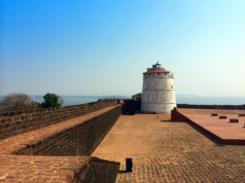 india goa Aguada fort royaltyfri fotografi