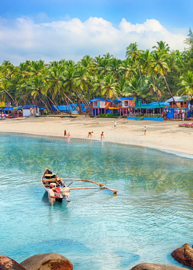 India, Goa, Palolem plaża zdjęcia royalty free