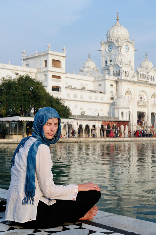 India - Golden temple. Golden temple (Sri Harimandir Sahib) in Amritsar. It is a central religions place of the Sikhs stock photos