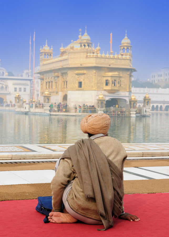 India - Golden temple. Golden temple (Sri Harimandir Sahib) in Amritsar. It is a central religions place of the Sikhs royalty free stock image