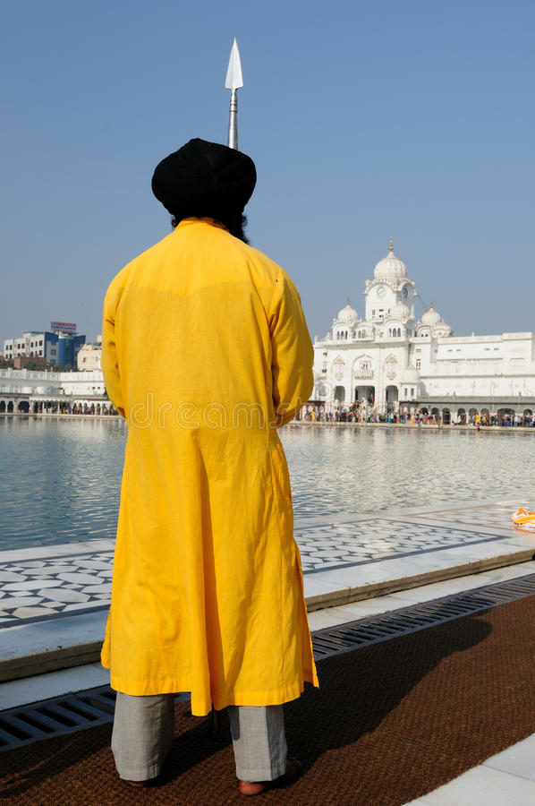 India. Golden temple (Sri Harimandir Sahib) in Amritsar. It is a central religions place of the Sikhs stock image