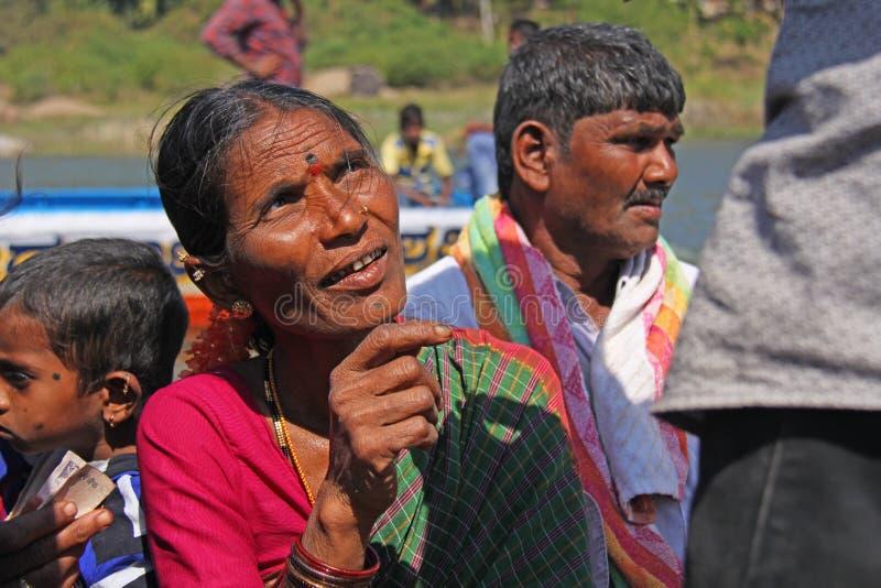 India, Hampi, 01 2018 Luty Indiańska kobieta w górę portreta, obraz stock