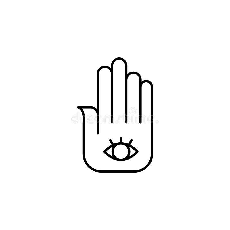 India, hamsa ikona Element India kultury ikona Cienka kreskowa ikona dla strona internetowa projekta i rozwoju, app rozwój ikony  ilustracji